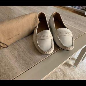 Bottega Veneta White Loafer